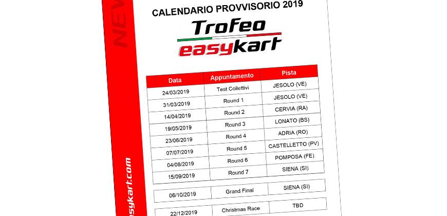 Calendario Castelletto Di Branduzzo.Calendario Provvisorio 2019 Easykart Italia